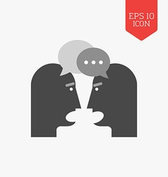 Two person chatting icon Dispute concept Flat vector image