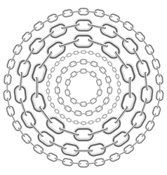 metallic circle chains vector image vector image