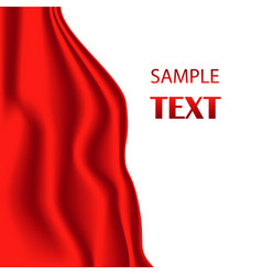 red silk fabric with red vector image vector image