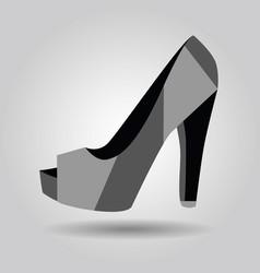 single women peep toe high heel pattern shoe icon vector image vector image
