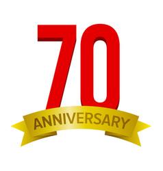 70th anniversary label vector image
