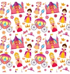 Beautiful princess seamless pattern magic vector image vector image