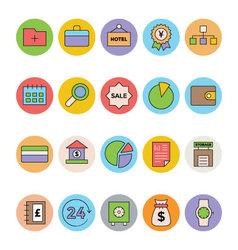 Business and Office Colored Icons 2 vector image