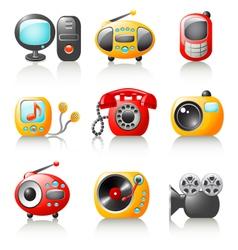 cartoon media home appliance vector image vector image