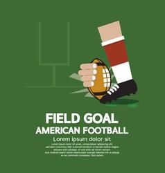 Field Goal American Football vector image