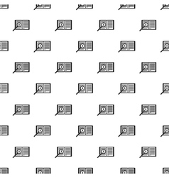 Magnifying glass over open book pattern vector image