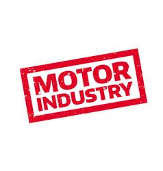 Motor industry rubber stamp vector