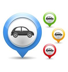 Retro Car Icon vector image