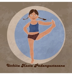 Yoga Extended Hand To Big Toe Pose vector image