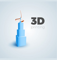 3d printing concept vector image