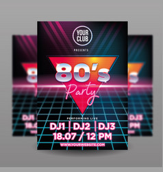 80s flyer vector image