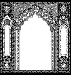 architectural arch in arabic or other eastern vector image