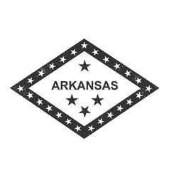 Arkansas state symbolic flag vector