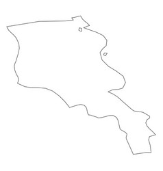 Armenia - solid black outline border map of vector