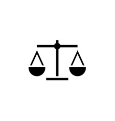 attorney law scale icon design template vector image