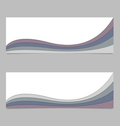 Banner template from curved layers - design vector
