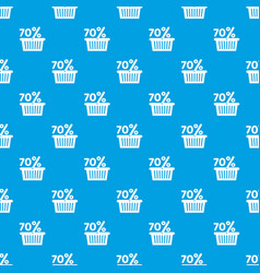 basket seventy percent discount pattern vector image
