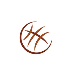 basketball icon ball logo symbol design element vector image
