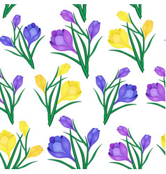 Beautiful spring seamless pattern with yellowblue vector