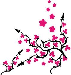 Branches design decorative romantic vector image