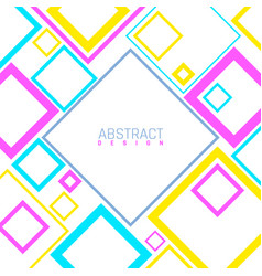 bright abstract background modern geometric vector image