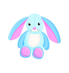 bunny fluffy toy santa factory vector image