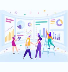 business data analysis marketing infographic vector image