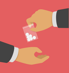 Buying drugs concept vector