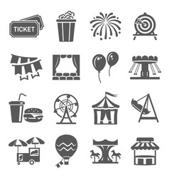 carnival and festival icon set event vector image