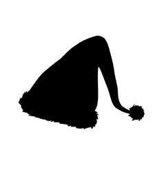 christmas elf hat silhouette icon symbol design vector image