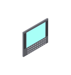 computer with screen keyboard vector image