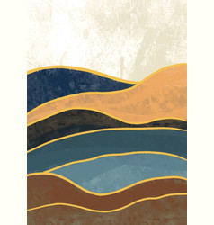 Creative minimalist hand painted abstract vector