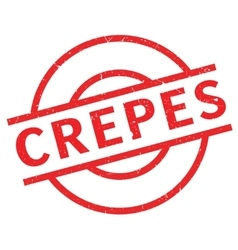 Crepes rubber stamp vector image
