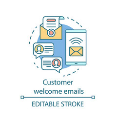 Customer welcome emails concept icon greeting vector