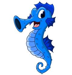 Cute seahorses cartoon vector