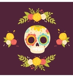 Day of the dead colorful vector