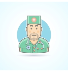 Doctor medic surgeon icon Avatar and person vector image