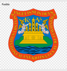 Emblem of puebla vector