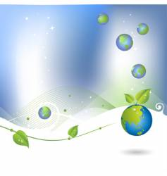 environment background with globe icon vector image