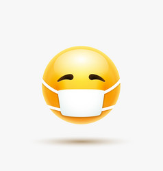 Face mask emoji cartoon icon covid19 19 vector