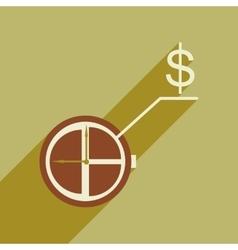Flat design modern icon Watch vector