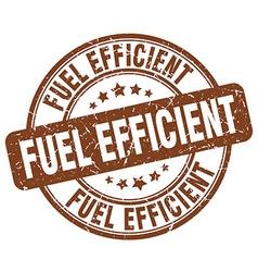 Fuel efficient brown grunge round vintage rubber vector