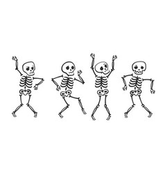 funny skeleton halloween cartoon vector image