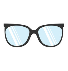 glasses realistic icon sign on white background vector image