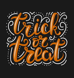 greeting card for halloween celebration with vector image