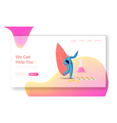 health care pharmacy landing page template tiny vector image
