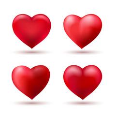 heart shape love balloons vector image