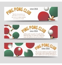 Horizontal ping pong banners vector image
