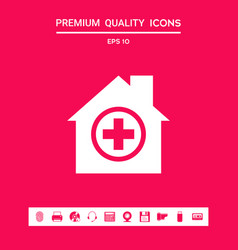 hospital icon symbol graphic elements for your vector image