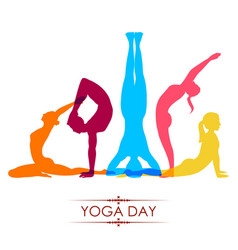 international yoga day on 21st june vector image